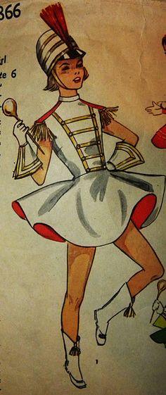 Vintage drum majorette pattern picture!!