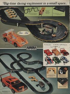 Aurora Race Set Sears 1971