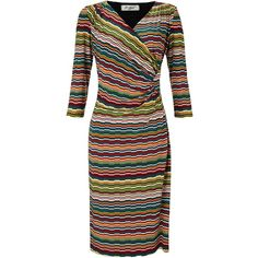 COLLECTION by John Lewis Stripe Print Jersey Dress, Multi ($110) ❤ liked on Polyvore