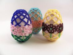 Spring+Flower+Beaded+Easter+Egg+Pattern+Beading+by+zaneymay