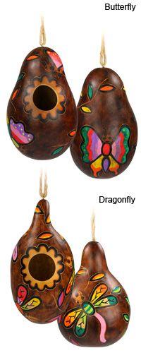 gourd art, painted gourds, paint gourd, gourd birdhous, bird hous