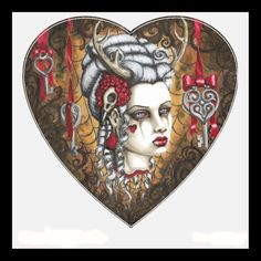 Wall Sticker decapitated Marie Antoinette fawn by ShayneoftheDead, $20.00