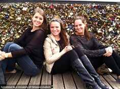 UD students might or might not have found love on Pont des Arts footbridge in Paris, France but it sure looks like they found friendship and sisterhood.