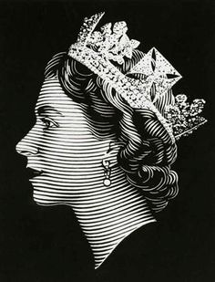 Queen Elizabeth Black & White