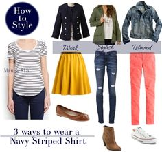 How to Style Navy Striped Shirt