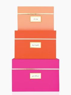 Kate Spade storage box set