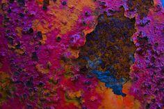 Fuscia And Orange Rust