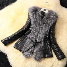 Fashion Women's Winter Warm Fur Collar Coat Leather Cotton Jacket Overcoat Parka #Unbranded #BasicJacket