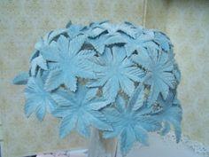 Vintage Blue Hat Blue Velvet Floral Hat by theglassfeathernest, $22.00