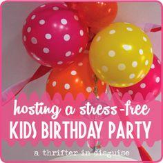 A Thrifter in Disguise: Preschooler Birthday Party DIY Ideas