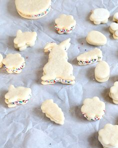 Soft Frosted Gluten Free Sugar Cookies - in Easter shapes!