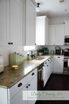 kitchens, daili clean, clean 101, hous idea, clean hous, kitchen ideas, white cabinets, bowls, a bowl full of lemons