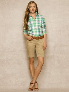 Slim-Fit Plaid Camp Shirt - RalphLauren