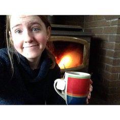 @emmajaned24 Power outage. Glad I made my tea when I did. #poweroutage #snow #fireplace #goodearthtea