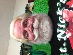 Santa Chuck's stache...very nice, love the fullness and the smile it creates.  A great real stache to model after.  I think i would like to have a little lower on the lowest points then curl all the way around.