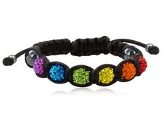 Amazon.com: Rainbow Pride Black Shamballa Bracelet - Gay & Lesbian LGBT Pride. LGBT Pride - Gay and Lesbian Bracelet. One high quality wristband / anklet for men or women. Rainbow Pride Jewelry Wristlet is Great for the Gay parade, as a Lesbian, Gay, Bisexual, or Transgender Gift to Celebrate Marriage, Love and Equality. (Black & Rainbow): Jewelry