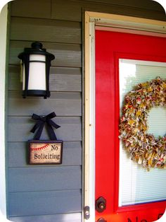 It's sad but depending on where you live, you have to be very proactive with the No Soliciting signs! Yeesh!    Where Beauty Meets Function: No Soliciting