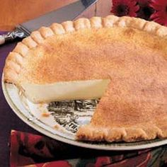 Mom's Custard Pie Very simple recipe - best stuff in the world!  Although, I would make my own crust.  :)