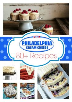 80+ Cream Cheese Desserts - pin now cuz you know you're gonna need it later!
