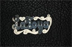 Sterling silver name plate - #jewelry