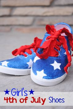 Super cute 4th of July shoes - wear these to your local events or party! - A Little Craft in Your Day