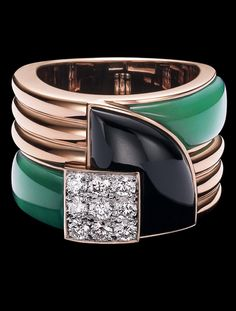 Ralph Lauren Modern Art Deco Ring