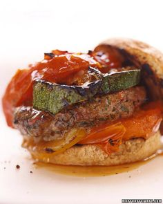 Grilled Burgers with Garden Vegetables | Whole Living