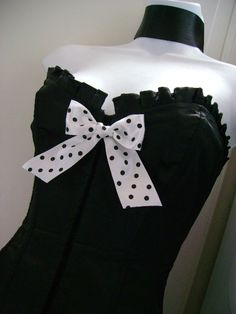 Valentine's '50s pin up gal FILM NOIR black n white corset by sparkleyes, $35.00