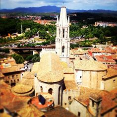 Sant Fèlix church in Girona from the Cathedral's Bell Tower #InCostaBrava
