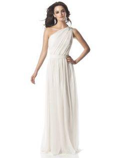 wedding dressses, idea, style, dream, bridesmaid dresses, weddings, one shoulder, gown, chiffon