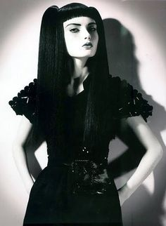Elegant Couture or glam #Goth girl