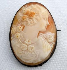 Large Finely Hand Carved Shell Antique Cameo Sterling Silver Victorian Brooch | eBay