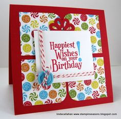 Present Birthday card with Happiest Birthday Wishes