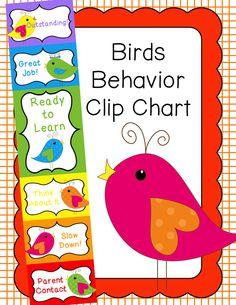 Behavior Clip Chart - Behavior Management - BIRDS, $