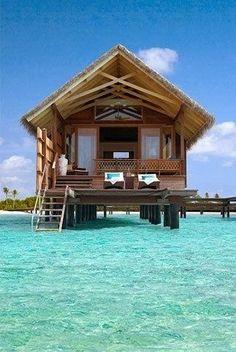 Ocean Huts In Bora Bora #placestogothingstosee