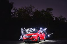 Light up the road in your Honda Fit, day or night.  Photo Credit: Wesley Grim