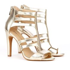 Gold Cut Out Heels