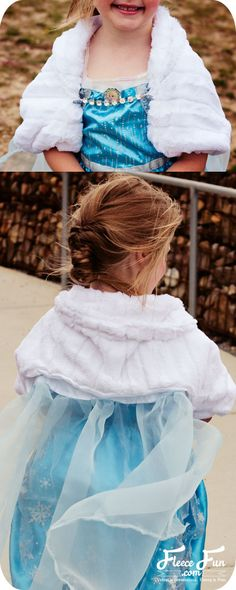 I love the idea of this jacket for trick or treating! Elsa Cape tutorial with jacket inspired by Disney's Frozen (free pdf sewing pattern) by  www.fleecefun.com .