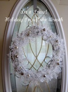 let it snow wreath...and more Dollar Store craft ideas.