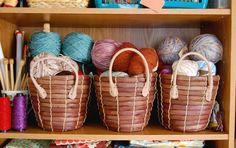 Cute baskets! #Yarn organization