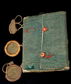 Vadstena Observance, Medieval Limp Binding, linen cloth cover. 1451-1452, National Library of Sweden.