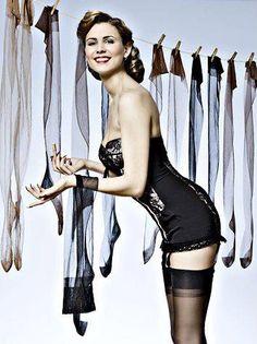 retro, vintage, corselette, nylon stockings, nylons