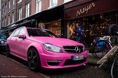 Pink Mercedes....