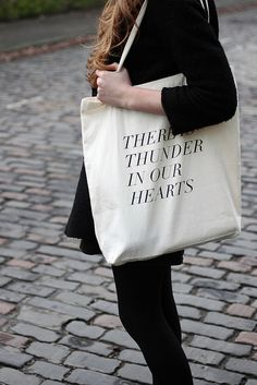 NEED!! Fieldguided tote. Kate Bush Quote.