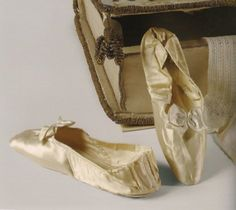 silk slippers belonging to empress josephine