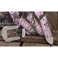 Pink Mossy Oak Belt