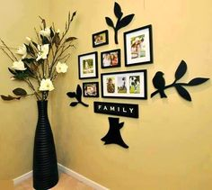 Cute family tree, but without the large vases & flowers
