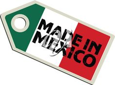 iCLIPART - Vector Clip Art Illustration of a Label with the Flag of Mexico