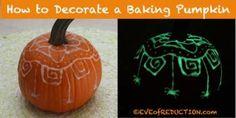 Glow in the Dark Pumpkin #TYP entry in #plaidcrafts 4th Annual Trick Your Pumpkin Halloween craft contest! www.TrickYourPumpkin.com