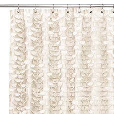 Gigi Ivory 72' x 72' Shower Curtain - Bed Bath & Beyond